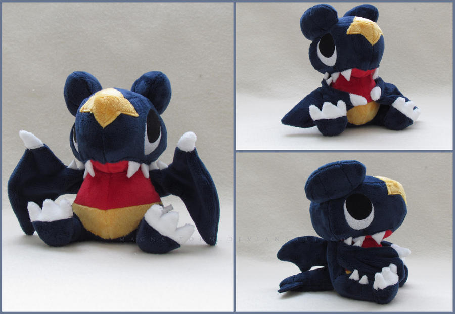 Pokemon time Garchomp pokedoll by MagnaStorm