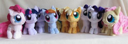 chibi ponies group