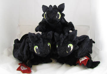 Triple Toothless by MagnaStorm