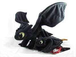 Toothless x2 by MagnaStorm
