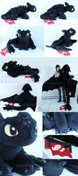 Super sized Toothless (SOLD) by MagnaStorm