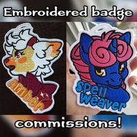 embroidered  badge commissions by MagnaStorm