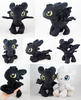 Chibi Toothless/night fury (preorders open!) by MagnaStorm