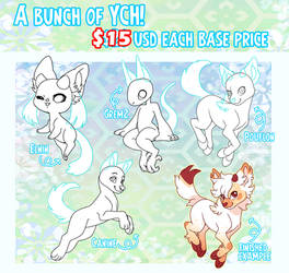 A bunch of YCH! [open and reduced]