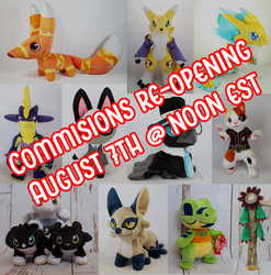 Commissions re-opening Aug 7th!