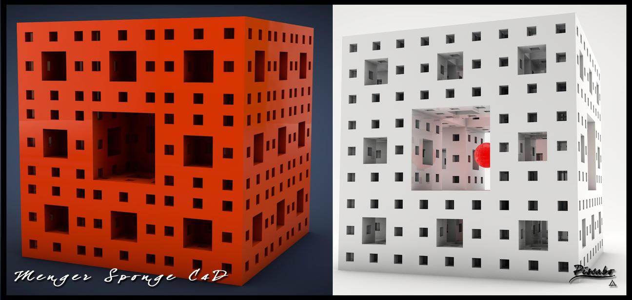 C4D Menger Cube/ Sponge by FracZky