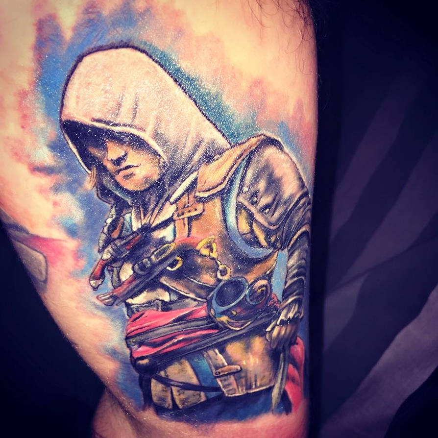 Edward Kenway Assassins Creed Black Flag Tattoo By Davewoody On