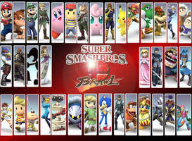 SSBB Character Wallpaper by PacDuck