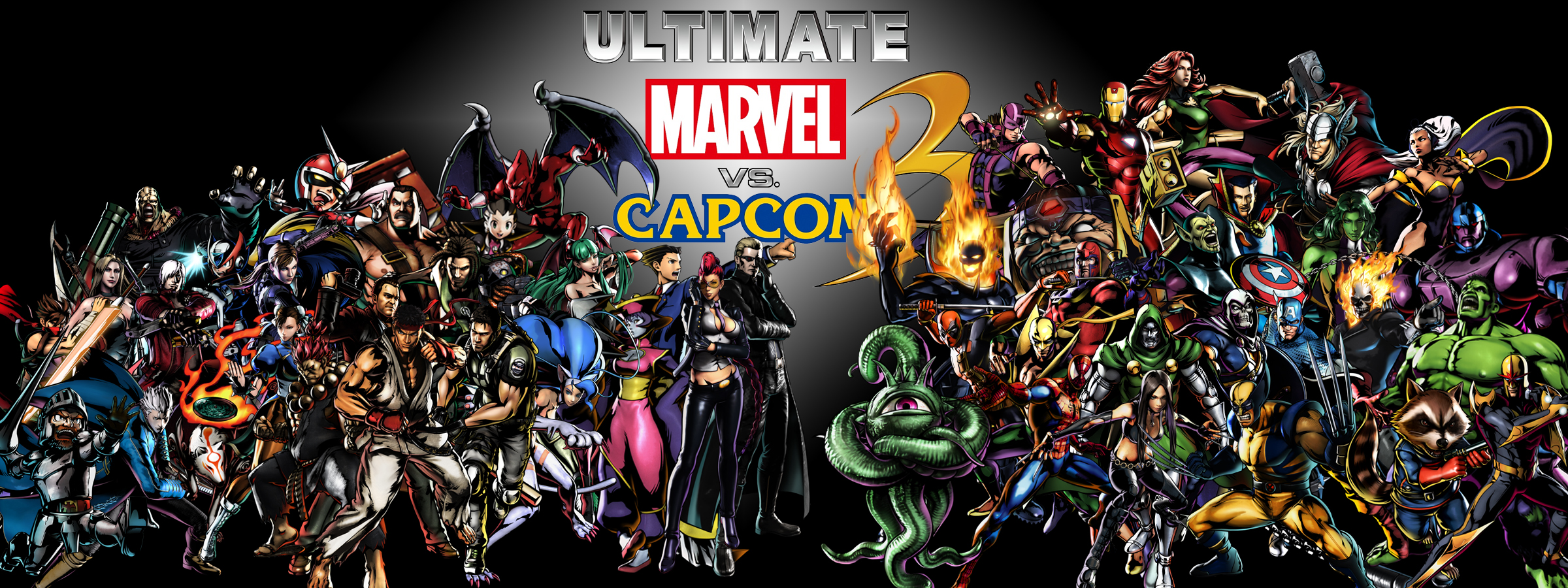 Ultimate Marvel vs. Capcom 3 by PacDuck on DeviantArt | 2400 x 900 jpeg 1947kB