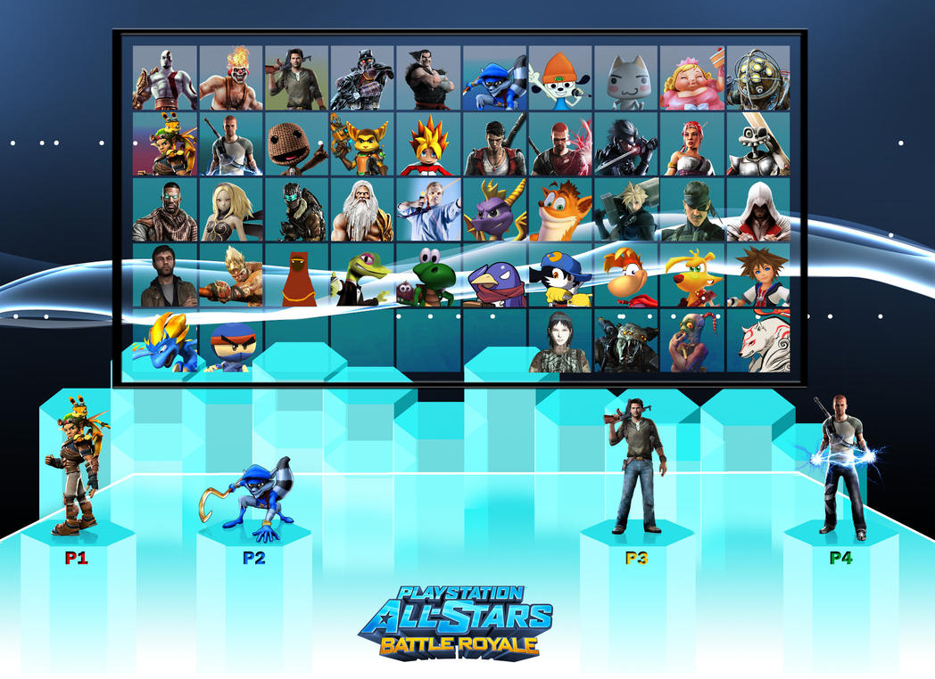 PlayStation All-Stars Battle Royale Roster by PacDuck