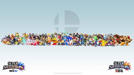 Super Smash Bros. Wii U/3DS Wallpaper by PacDuck
