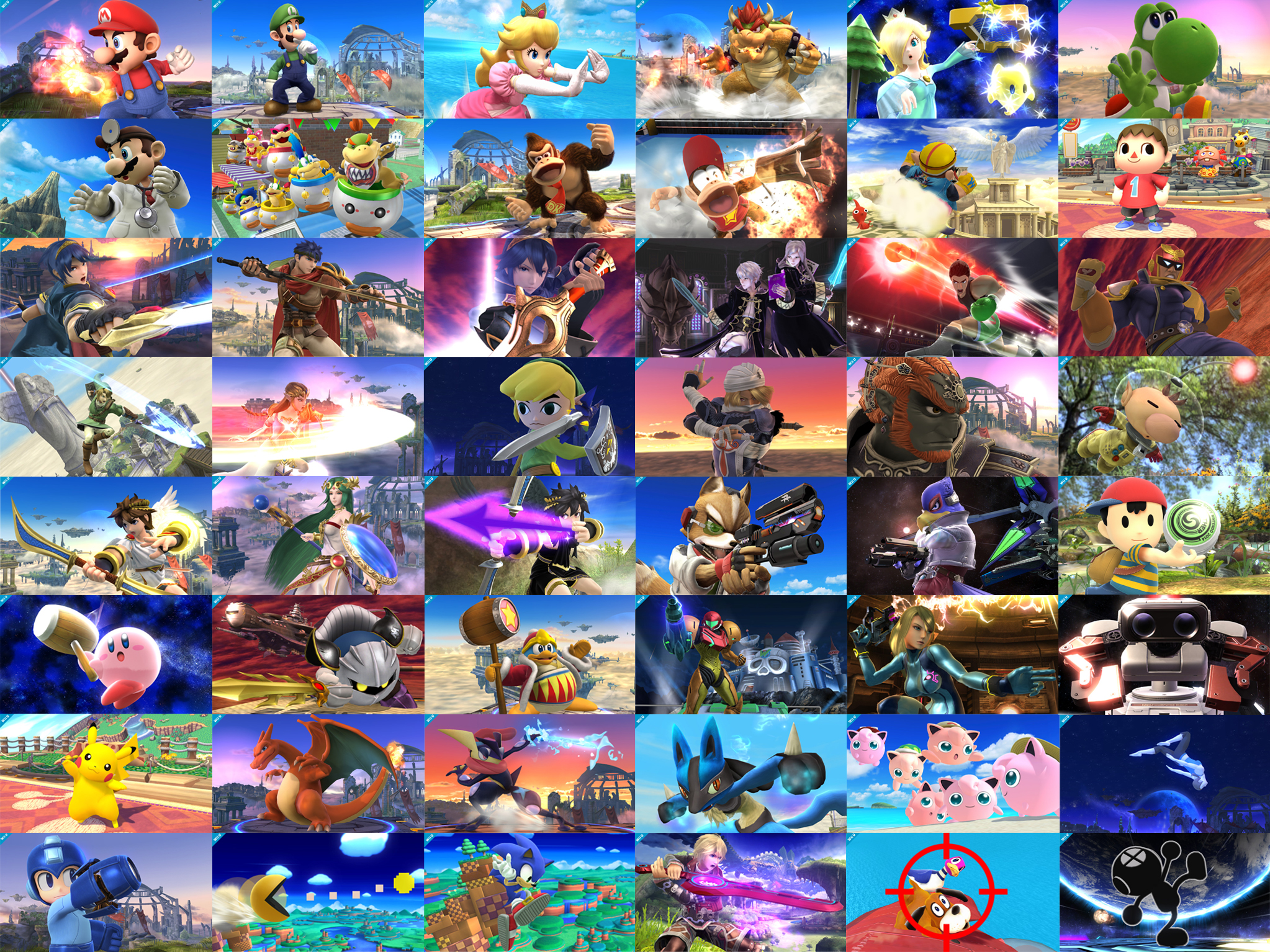 Super Smash Bros Wii U 3DS Character Shots By PacDuck
