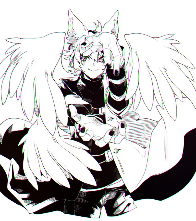 OC : Moroshi [ INKING] by Kanomatsu
