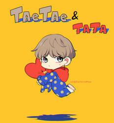 Baby and TATA by Kanomatsu