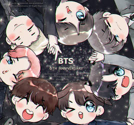 HAPPY BTS 6TH ANNIVERSARY by Kanomatsu