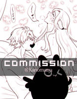 CM : Thancred x Caffi [ Censored ver INKING ]