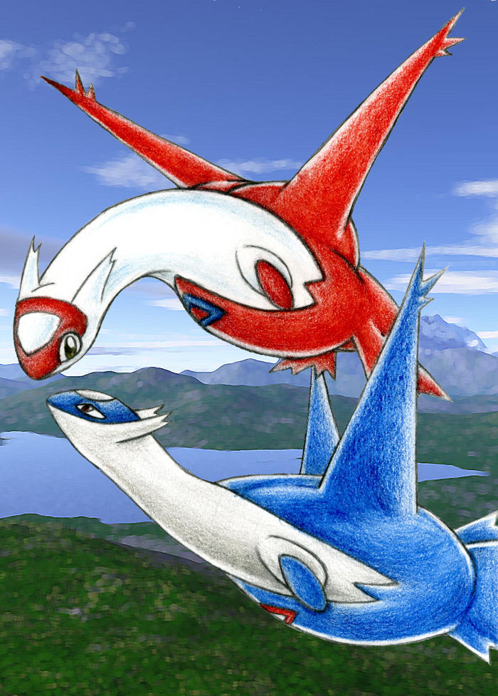 Baby Latias And Latios Latias and latios by jackie-