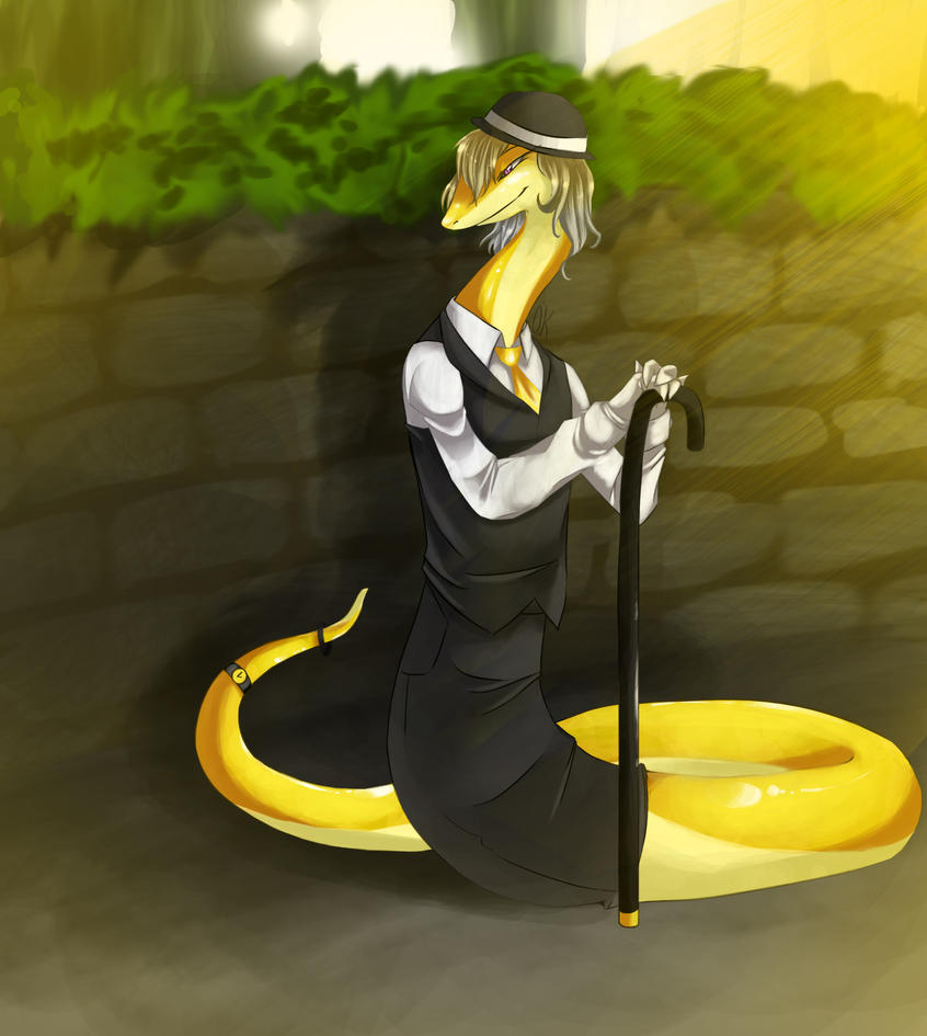 Snakes on a cane? by tamponandtwilaloop