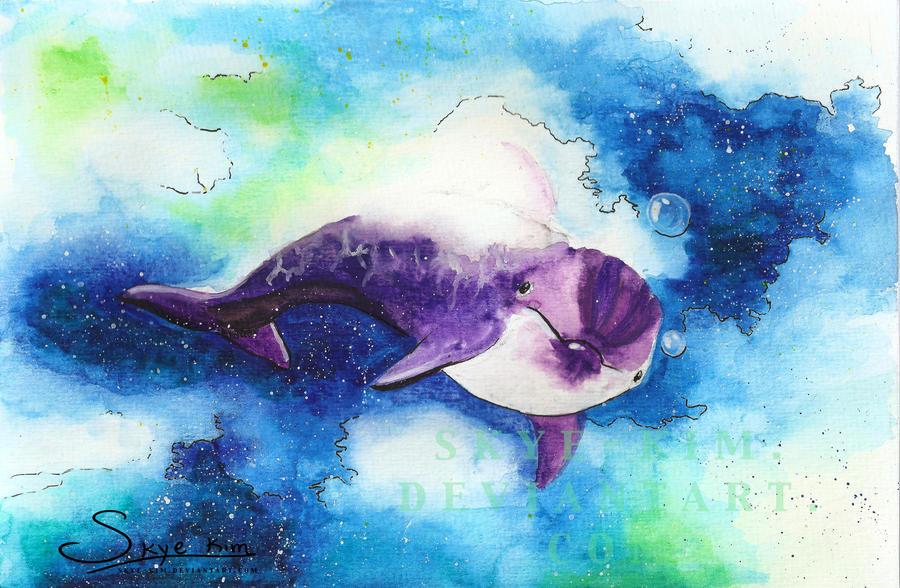 Dolphin in Space by skye-kim