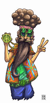 Psychedelic hippie