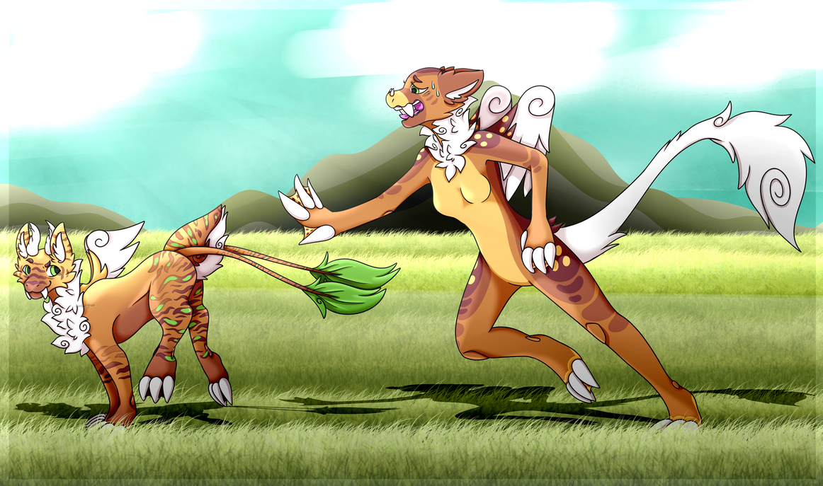 We once ran in the fields, laughing without a care by Windup-Trousle