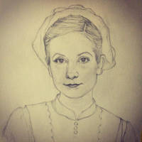 Anna - Downton Abbey - Sketch for oilpainting