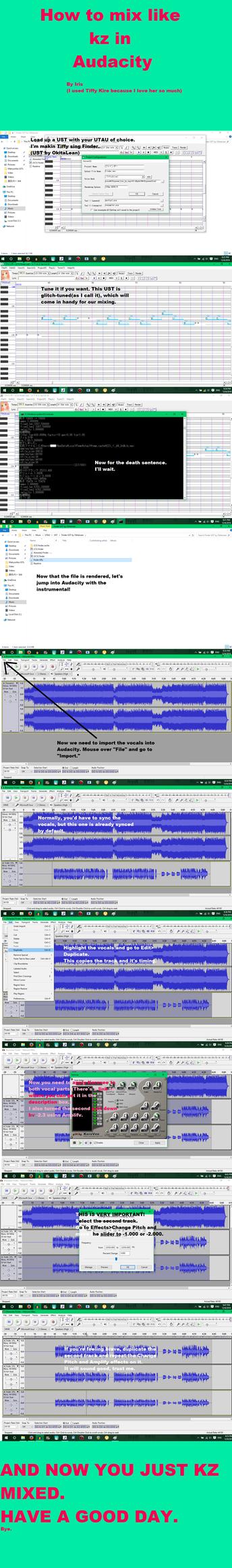 [TUTORIAL] How to mix UTAU like kz in Audacity by awesomejellystar