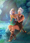 [COMMISSION] League of Legends RIVEN x QIYANA by 79lightyears