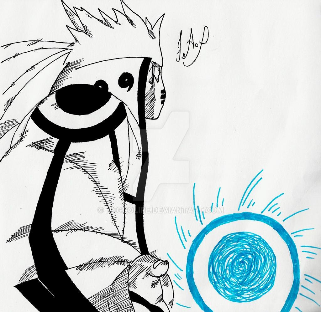 Naruto Uzumaki Rasengan Bijuu Mode by neggolipe on DeviantArt
