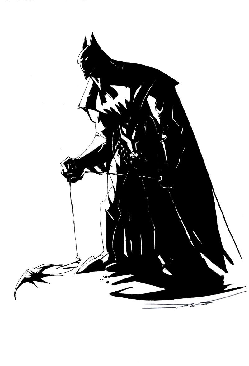 batman black white Sculpted by Jonathan Matthews.