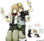 Kingdom Hearts - Roxas looks like Ventus