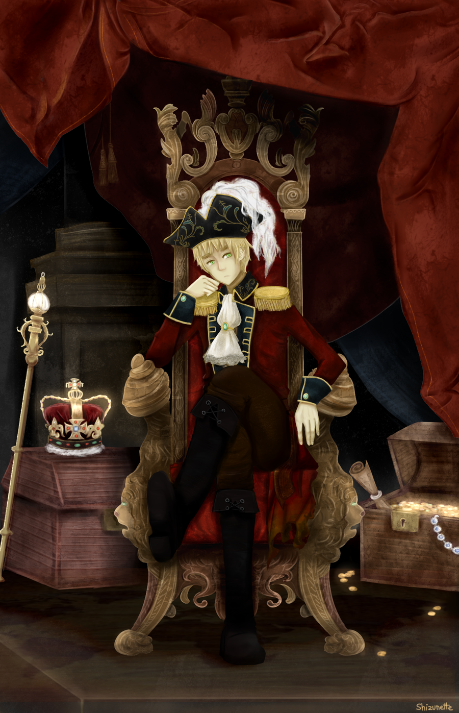 Hetalia - Pirate!England for Riza by Shizunette