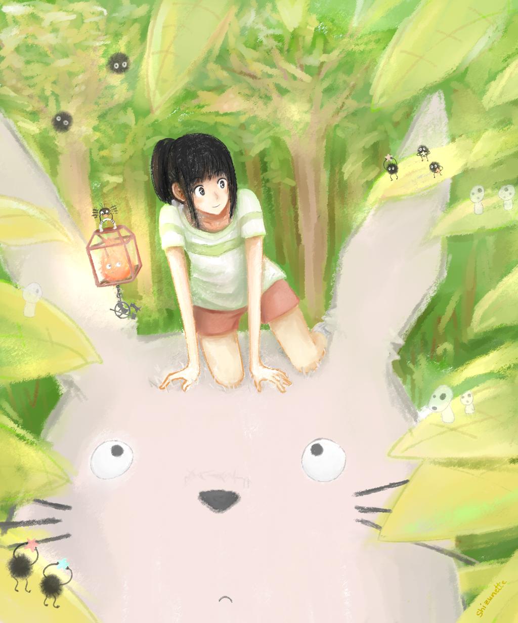 H. Miyazaki - Ballade sur un Totoro by Shizunette