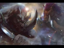TMNT: Bebop and Rocksteady by EGOR-URSUS