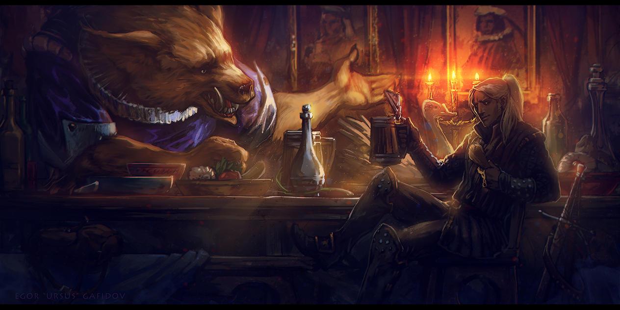 Geralt and Nivellen by EGOR-URSUS