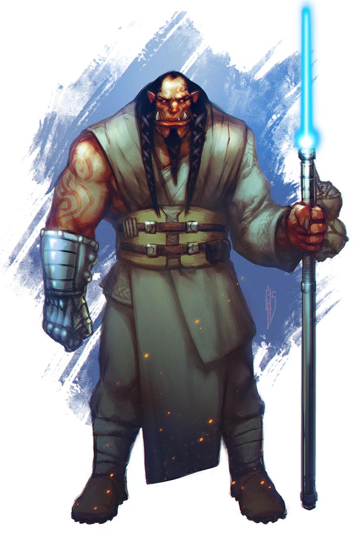 Orc - Jedi by EGOR-URSUS