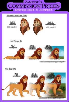 Zand's Commission Prices Guide [Status: ASK]