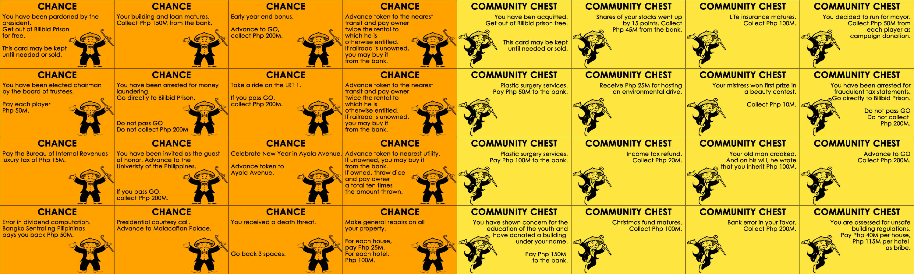 Chance Card Template | Pinoypoly Chance Chest Cards By Lykwys On Deviantart