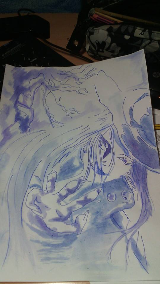 Black Mage (Amano style) by bloodyen