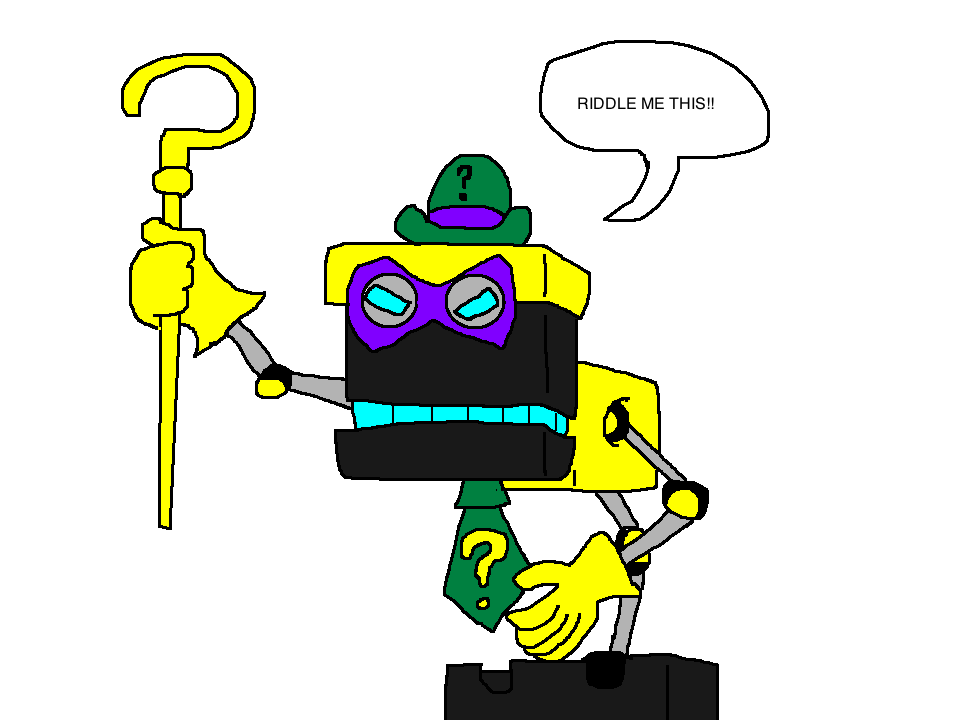 Cubot the riddler by Scurvypiratehog