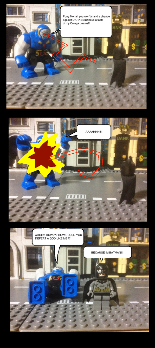 Batman VS darkseid by Scurvypiratehog