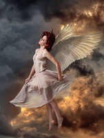 Angel with wings by PIERCED6966