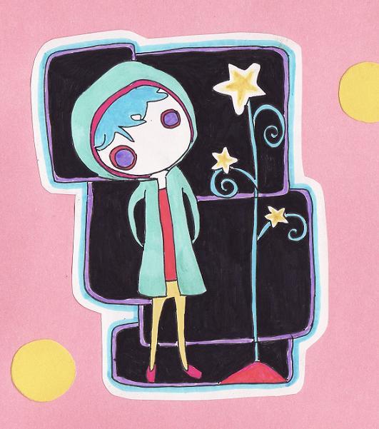 Ojita y estrellas Sticker by Moqueta