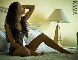 Valerie on the Bed by Kama-Photography