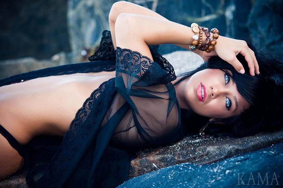 Agnessa on the Rocks by Kama-Photography