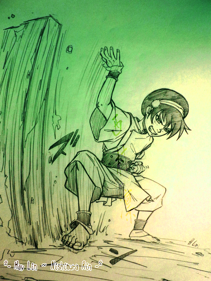Toph Earthbending By Haylin Narutina Rin On Deviantart . when i learned earthbending from toph . i remember feeling like my muscles were becoming part of the rocks i was moving. toph earthbending by haylin narutina
