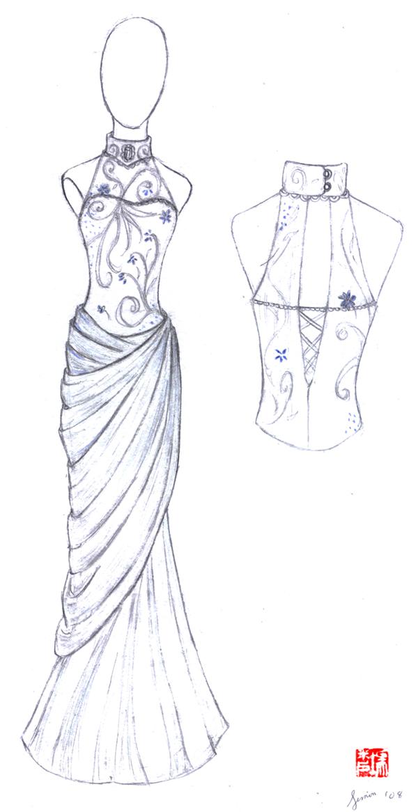 Wedding Dress Sketches 2 By Winter Fall On DeviantArt