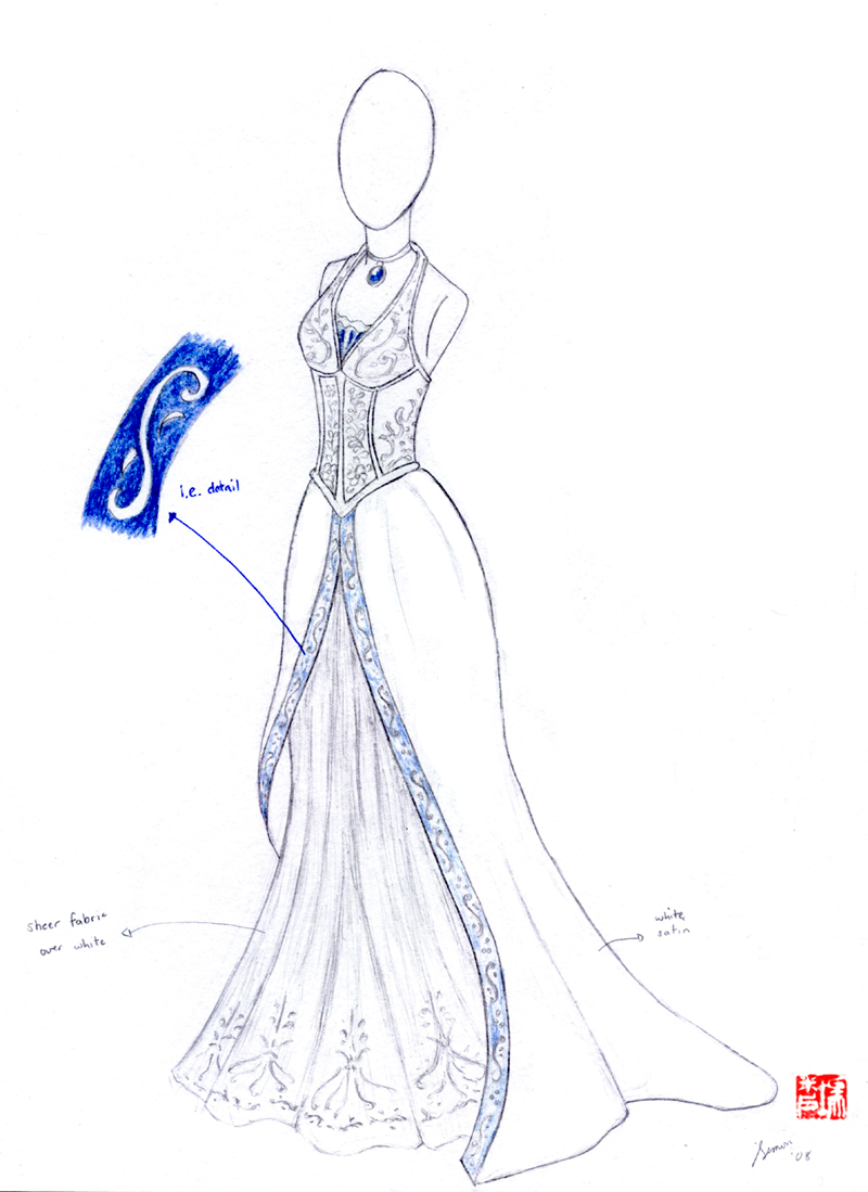 Wedding dress sketches 3 by winter fall