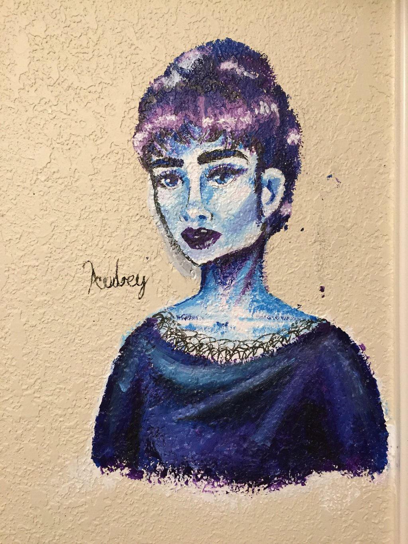 Audrey hepburn mural by minidal11 on deviantart for Audrey hepburn mural
