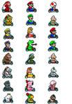 Super Mario Kart Sprites w/ Customs